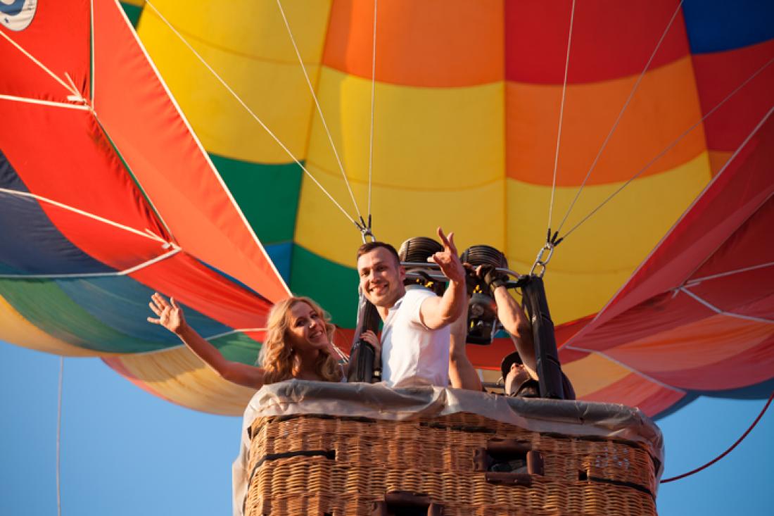 Романтическое свидание на воздушном шаре в Пензе